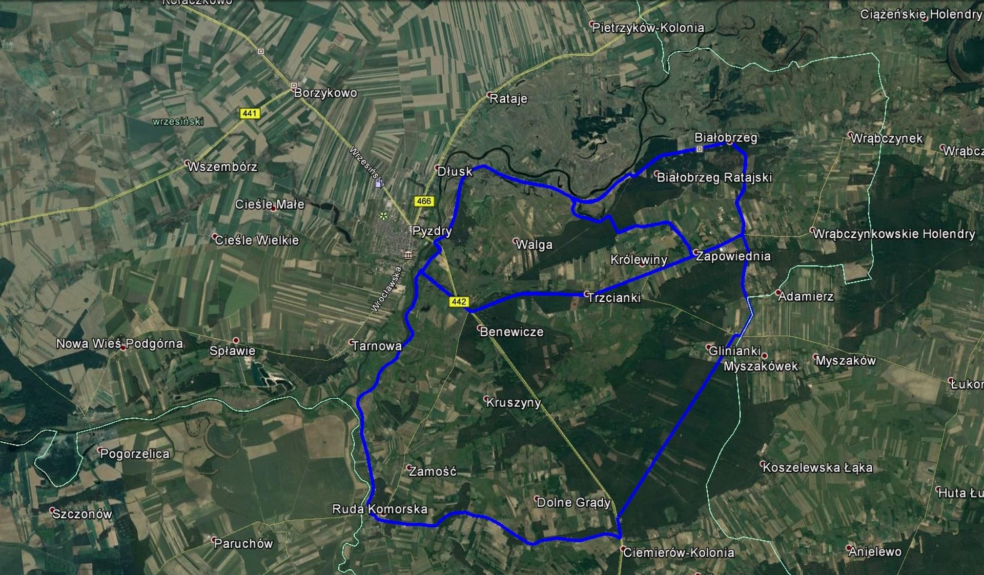 mapka rowerowa